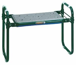 Garden Folding Seat & Kneeler 2 in 1 Double Sided Solid Frame w/ Padded Chair