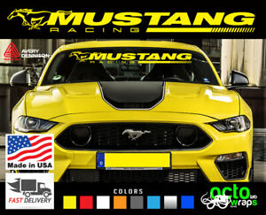 Fits Ford Mustang gt cobra shelby New performance race windshield decal sticker