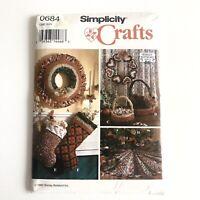 McCall/'s 6674 Épuisé sewing pattern POUR FAIRE SENTIR Noël Stocking Ornements Jupe