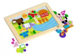 NEW Tooky Toy Magnetic Puzzle & WhiteBoard - Farm - 84pc
