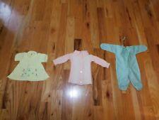 Vintage Children's Clothing Lot Knit Dress + Wool Blend Sweater + Romper
