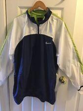 Vtg. Nike Lightweight Mens Windbreaker Jacket Vented Back Size 2Xl blue green