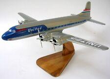 Douglas DC-6 United Airlines Airplane Mahogany Wood Model Regular