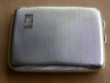 Vintage Plata Maciza Curvado Pitillera motor se volvió 137g Birmingham 1930