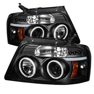 Spyder for Ford for F150 04-08 Projector Headlights Version 2 CCFL Halo LED Blk
