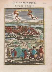 1685 Lovely Mallet Map of Mexico City