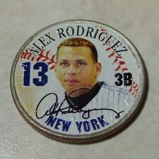 Alex Rodriguez #13 New York Yankees Colorized Quarter Minter Condition Perfect