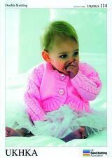 Baby Boleros  Double knitting pattern. (Prem - 12mths ) -UKHKA114