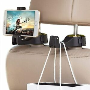 Pack of 2-Universal Car Vehicle Seat Headrest Mobile Phone Holder Gold or Silver