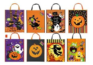 Halloween Trick or Treat Large TOTE BAGS Plastic 38cm x 30cm Sweet Loot Gift