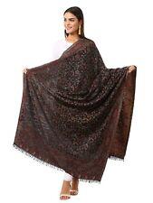 Womens Kaani Shawl, Faux Pashmina, Woven Jacquard Design with Kashmiri Paisleys