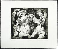 """""""Begegnung"""", 1989. Radierung von Natascha MANN (*1946 D), handsigniert"""