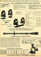 1962 Print Ad of Lyman All American Tru-Lock Rifle Scope Mount, Super-Targetspot
