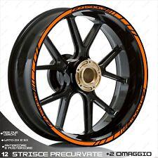 PROFILI ADESIVI SPORT CERCHIO STICKERS COMPATIBILE CB 500F CB500 F ARANCIO RUOT