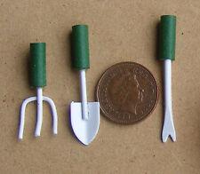 1:12 Scala Set Di Tre Piccolo Verde Garden Tools