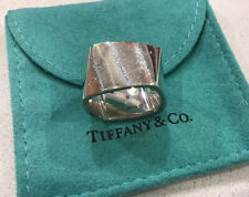 RARE Tiffany & Co. Frank Gehry Torque Ring Sterling Silver WIDE Size 7