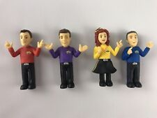 THE WIGGLES PVC Figures Cake Topper Lot Wicked Cool Toys 2013 - Set of 4