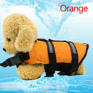 Dog Puppy Safety Vest Swimming Life Jacket Reflective Pet Supplies Small Orange