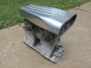 Weiand Chevy BBC 396 427 454 Tunnel Ram Intake Edelbrock Injection Scoop Set Up