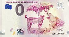 BILLET 0 EURO SOUVENIR DOMAINES DES GROTTES DE HAN BELGIQUE 2018-2 N° 300