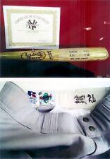 RANDY VELARDE SET 1995 GAME USED BAT & 1995 ROAD PANTS STEINER C O A