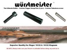 CUSTOM BUFFER + TRIGGER GROUP PINS (2) + TAKEDOWN SCREW FOR RUGER 10/22 -- NEW!