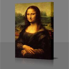 """Leonardo da Vinci Mona Lisa Grande Lienzo Enmarcado 16x10"""" pared arte Foto impresión"""