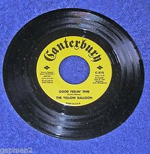 Yellow Balloon 1967 Canterbury 45rpm Good Feelin' Time  Don Grady Gary Zekley