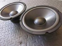 "NEW (2) 8"" DVC Subwoofer Speakers.8 ohm.Eight inch Bass Dual Voice Coil.woofers"
