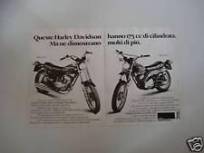 advertising Pubblicità 1977 HARLEY DAVIDSON 175 SX e SS