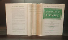 1951 ROYAL HORTICULTURAL SOCIETY DICTIONARY OF GARDENING 3 Vols ILLUSTRATED