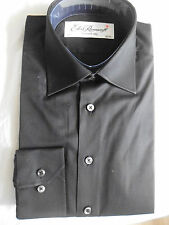 Ede and Ravenscroft shirt plain black 15.5 brand new with tags