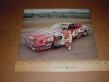 R. Thomas 1983 Pontiac Grand Prix Advance Auto Nascar racing handout postcard BB