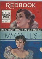 NN-078 - Redbook McCall's Sample Contents Magazine 1935 RARE Vintage Illustrated