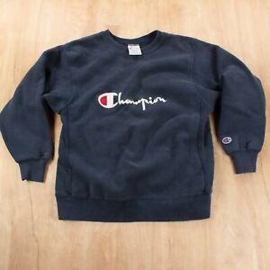 vtg 90s CHAMPION reverse weave embroidered sweatshirt MEDIUM 10-12 usa made