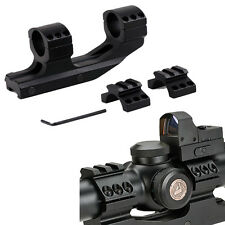 "Tactical 1"" Cantilever Flat Top Dual Ring Scope Picatiiny Mount for Vortex Nikon"