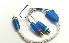3 x Sound Quest Y RCA Interconnects Audio Cable W / LED 2 Female 1 Male LRCA2F