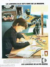 PUBLICITE ADVERTISING 115  1978  MAZDA  les ampoles OPALIA l'oeuf lumière