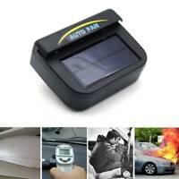 Black Auto Solar Powered Car Vent Window Fan For Vehicle Ventilator Air Co New