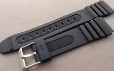 New Mens Timex Black Water Resistant Sport 19mm Watch Band Fits LED, Digital