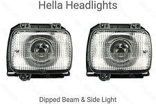 HELLA PROIETTORE de quadrato Golf Mk2 per Fari/Proiettori LHD/RHD Dip/Sidelight
