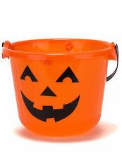 LED Halloween Kürbis Eimer für Süßigkeiten orange-schwarz - Cod.155005