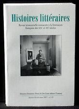 Revue Histoires littéraires n° 29  2007 Du Lérot Préraphaélisme NM
