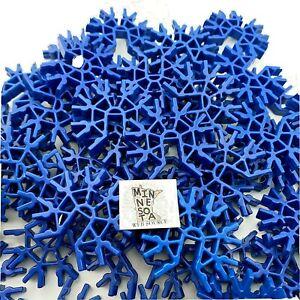 50 K/'nex BRIGHT ROYAL BLUE CONNECTORS 7 Position 3D Bulk Standrd KNEX Parts Lot
