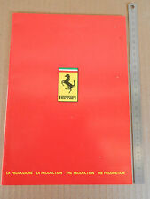BROCHURE ORIGINALE FERRARI 1983 208 308 512 BB 400 I MONDIAL DEPLIANT PROSPEKT