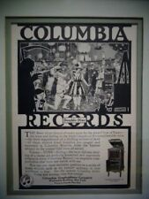 Vintage Columbia Records Framed Advertising Graphophone Co. N.Y