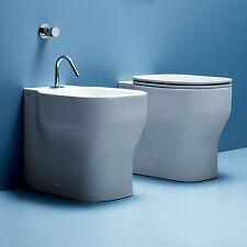 OFFERTA LIMITATA sanitari filo parete ceramica Azzurra mod. Glaze soft close