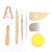 8x/set Pottery DIY Tool Clay Molding Ceramics Molding Tools Artwork Kit YK