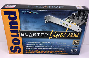 Creative Sound Blaster Live! 24-bit Sound Card Brand New Sealed