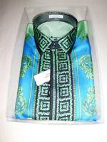 Versace Collection Camicia Uomo Seta Shirt Silk Baroque size 43 Authentic New